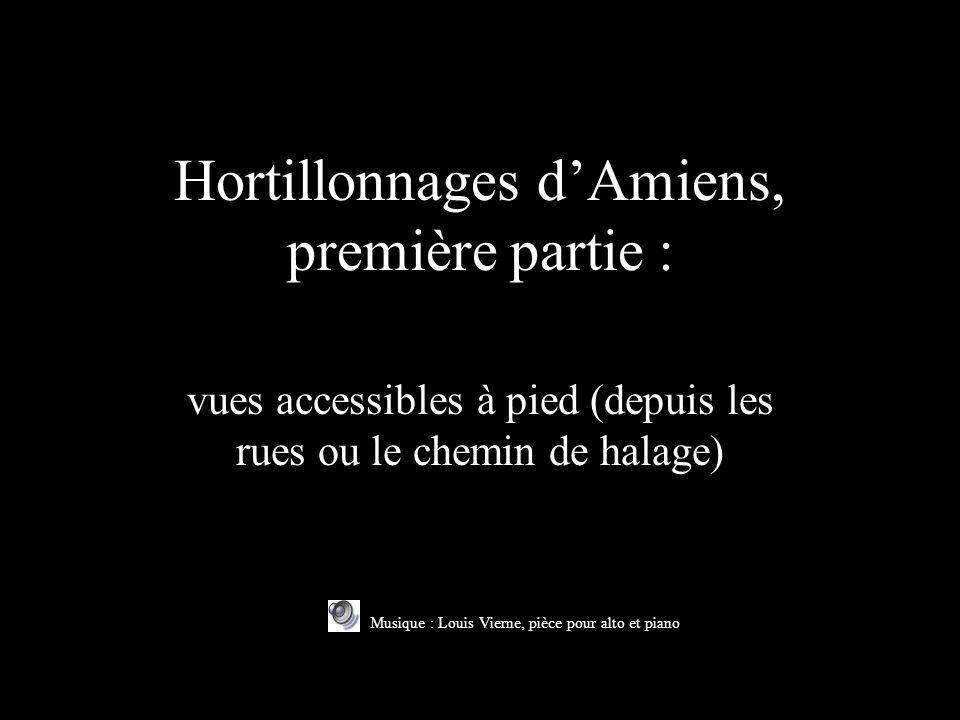 Hortillonnages dAmiens, première partie : vues accessibles à pied (depuis les rues ou le chemin de halage) Musique : Louis Vierne, pièce pour alto et