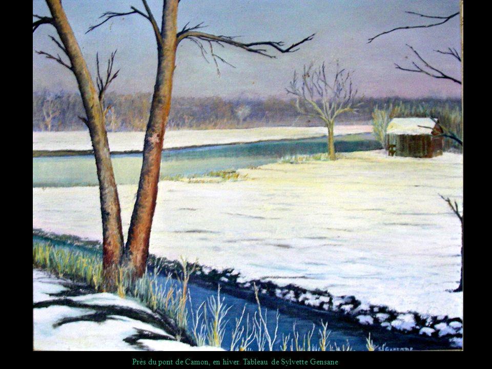 Près du pont de Camon, en hiver. Tableau de Sylvette Gensane