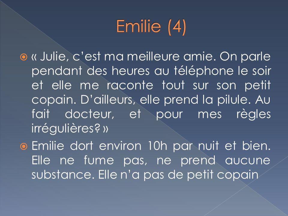 « Julie, cest ma meilleure amie. On parle pendant des heures au téléphone le soir et elle me raconte tout sur son petit copain. Dailleurs, elle prend