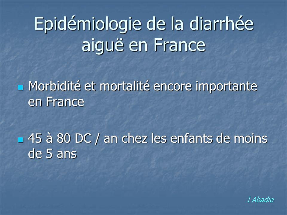 Epidémiologie de la diarrhée aiguë en France Morbidité et mortalité encore importante en France Morbidité et mortalité encore importante en France 45