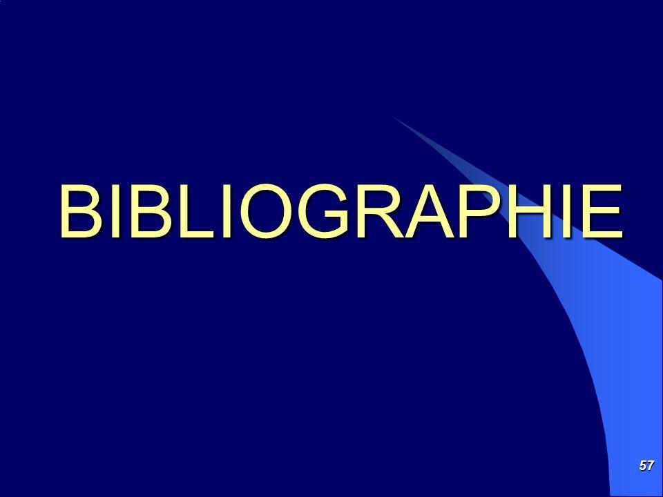 57 BIBLIOGRAPHIE