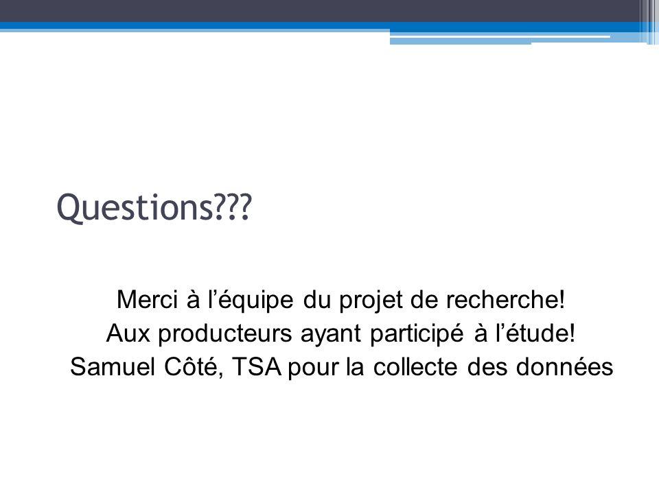 Questions??.Merci à léquipe du projet de recherche.