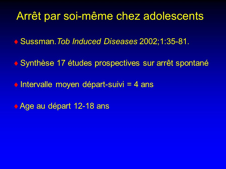 Sussman.Tob Induced Diseases 2002;1:35-81.