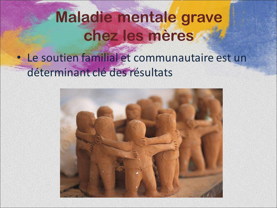 Le soutien familial et communautaire est un déterminant clé des résultats Maladie mentale grave chez les mères