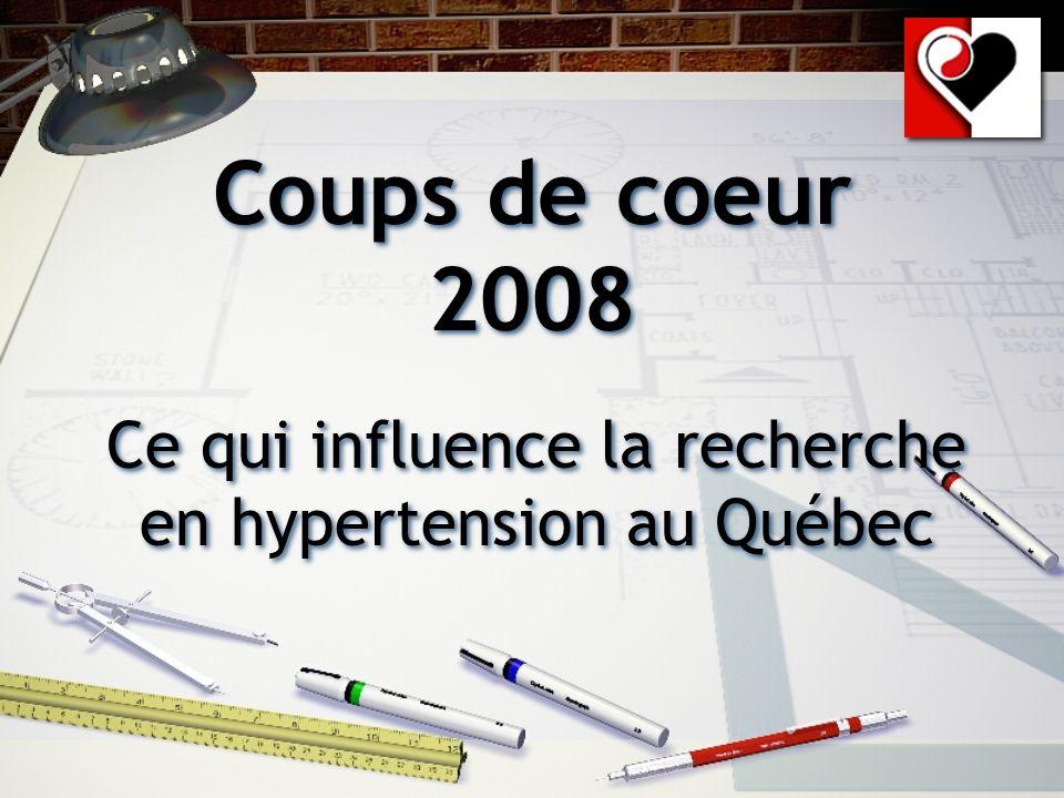 Coups de coeur 2008 Ce qui influence la recherche en hypertension au Québec