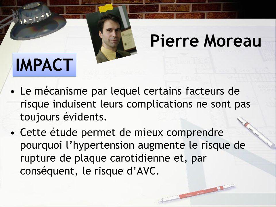 Pierre Moreau Le mécanisme par lequel certains facteurs de risque induisent leurs complications ne sont pas toujours évidents.
