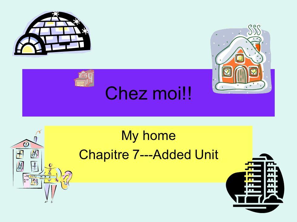 Chez moi.Describing my house Jhabite dans une maison/un appartement.
