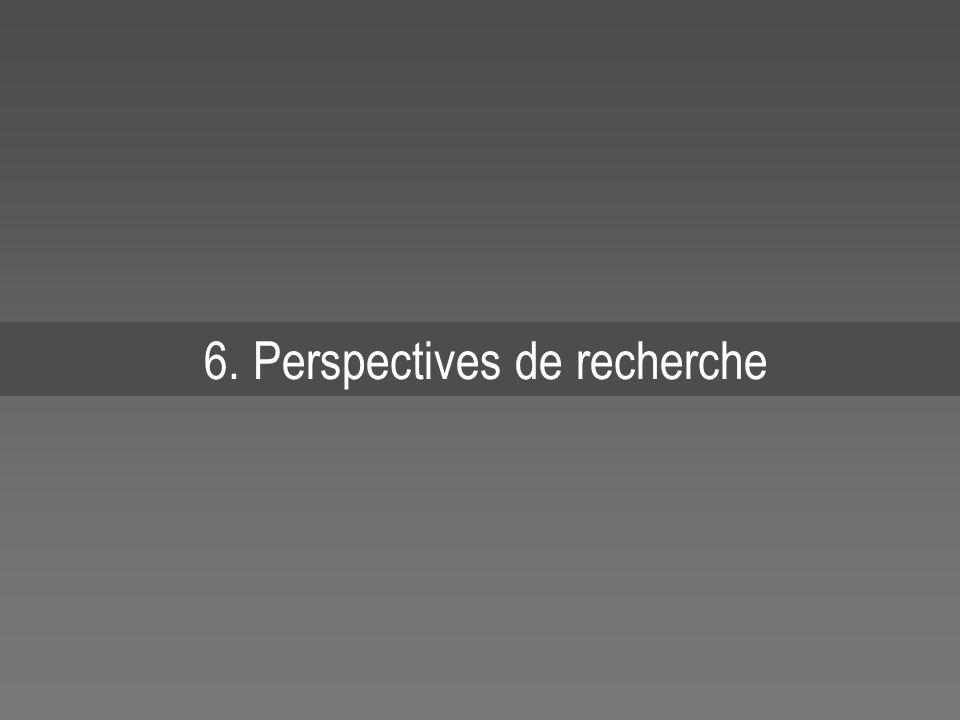 6. Perspectives de recherche