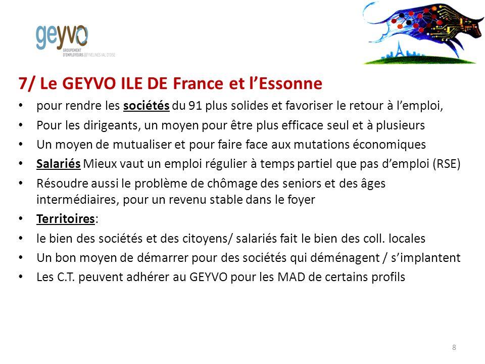7/ Le GEYVO ILE DE France et lEssonne pour rendre les sociétés du 91 plus solides et favoriser le retour à lemploi, Pour les dirigeants, un moyen pour