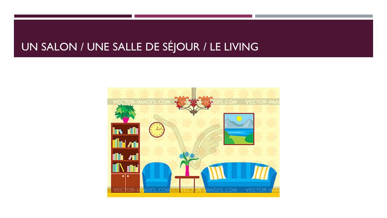 UN SALON / UNE SALLE DE SÉJOUR / LE LIVING