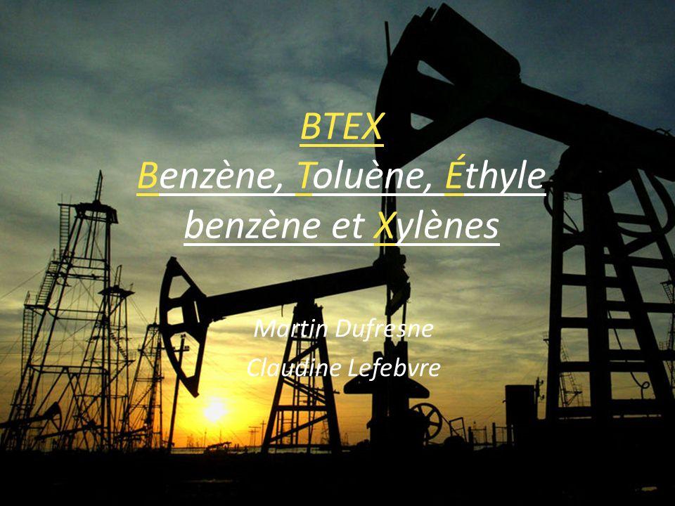 BTEX Benzène, Toluène, Éthyle benzène et Xylènes Martin Dufresne Claudine Lefebvre