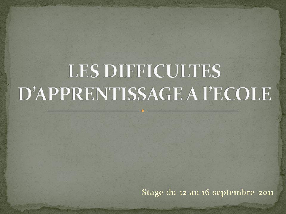 Stage du 12 au 16 septembre 2011