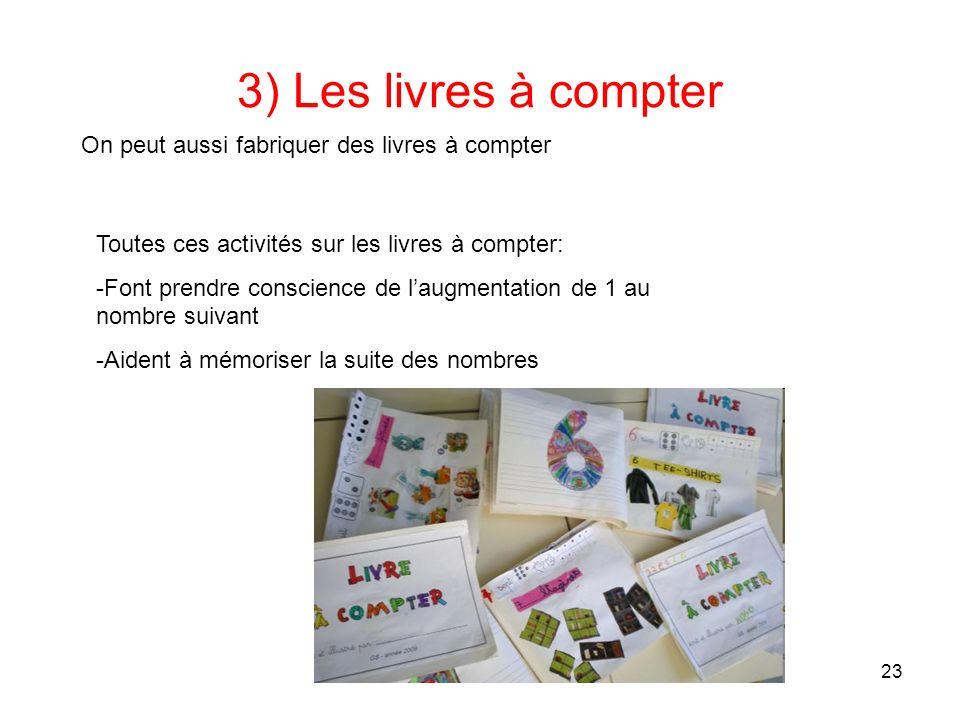 Frédérique Bouvier et Geneviève MARTIEL Stage Maths cycle2 22 3) Les livres à compter On peut lire des livres à compter: Avec une suite décroissante «