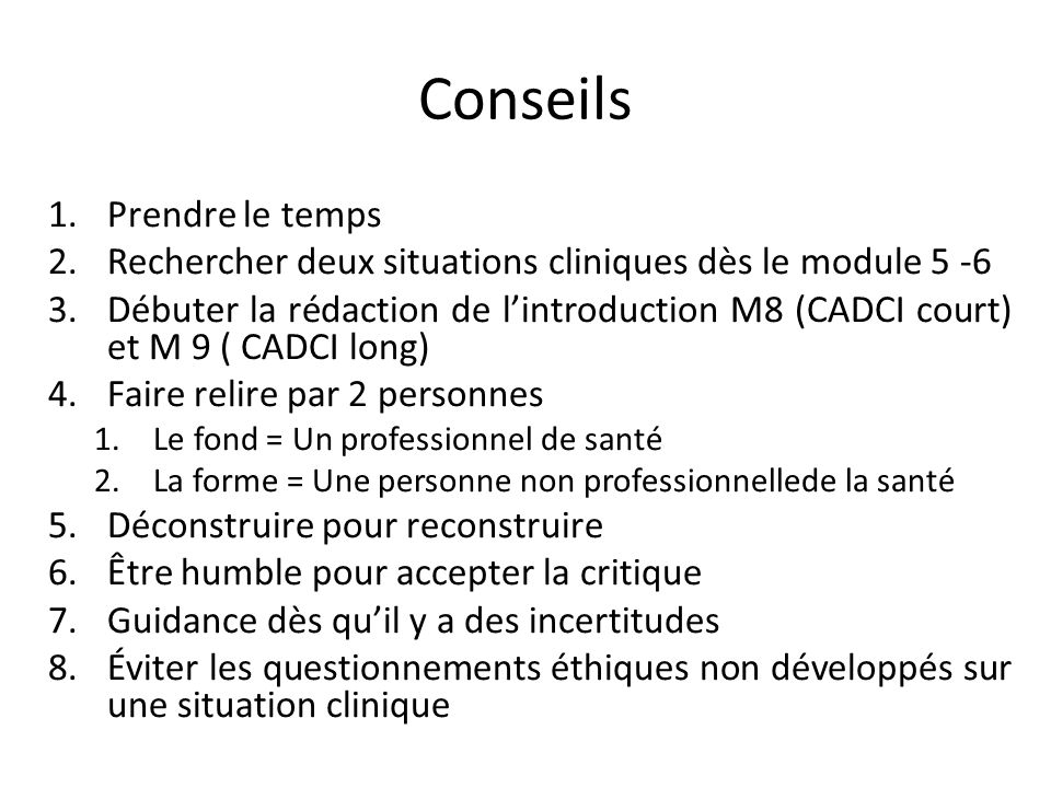 Introduction 2 à 3 pages 4 thématiques 1.Cheminement professionnel ( éviter les anecdotes) 2.