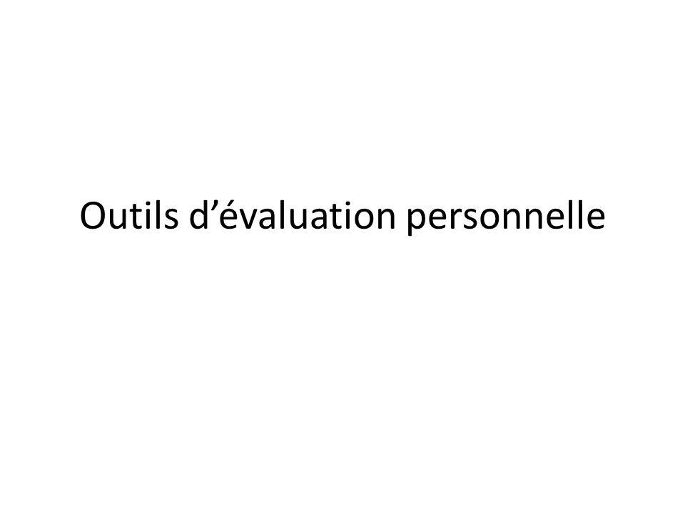 Outils dévaluation personnelle