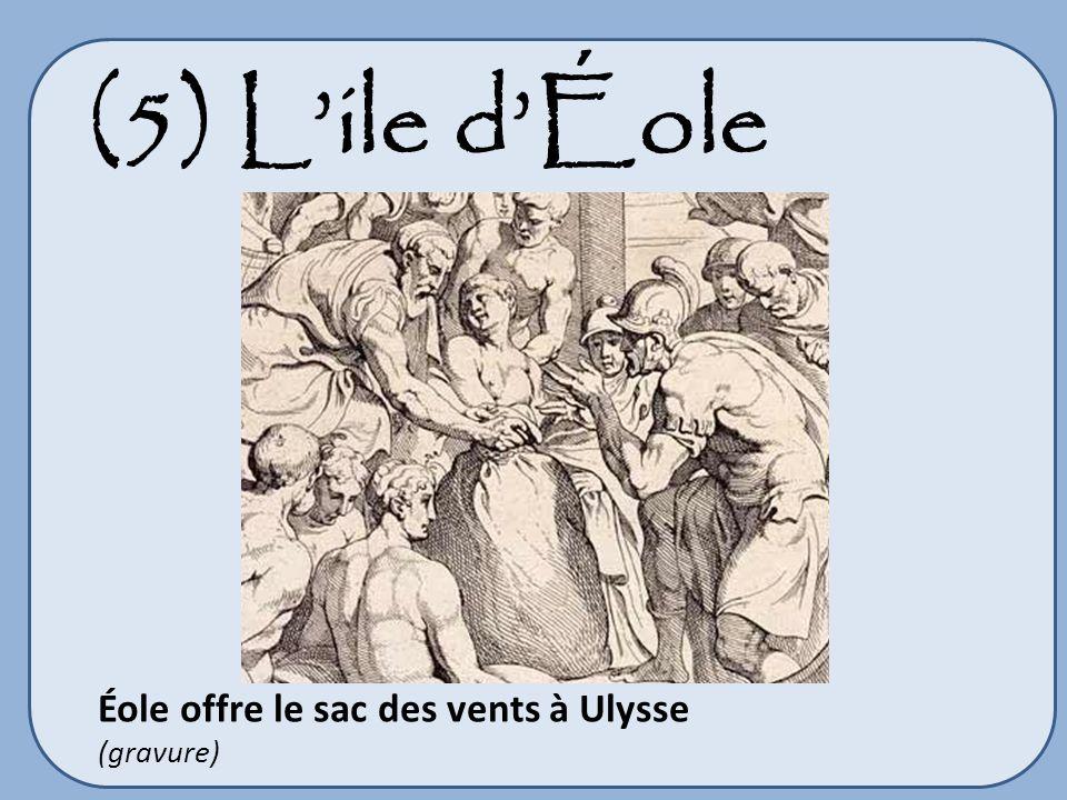 (5) Lile dÉole Éole offre le sac des vents à Ulysse (gravure)