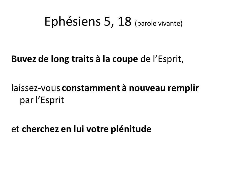 Ephésiens 3,16 (semeur) ….quil vous accorde… dêtre fortifié avec puissance par son esprit dans votre être intérieur