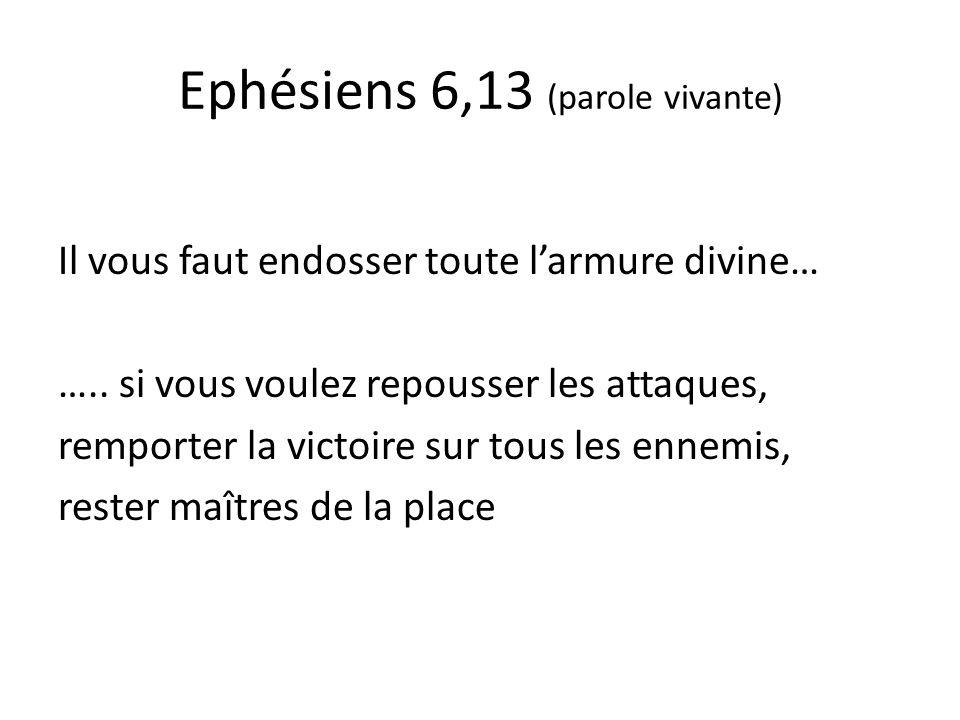 Ephésiens 5, 18 (parole vivante) Buvez de long traits à la coupe de lEsprit, laissez-vous constamment à nouveau remplir par lEsprit et cherchez en lui votre plénitude