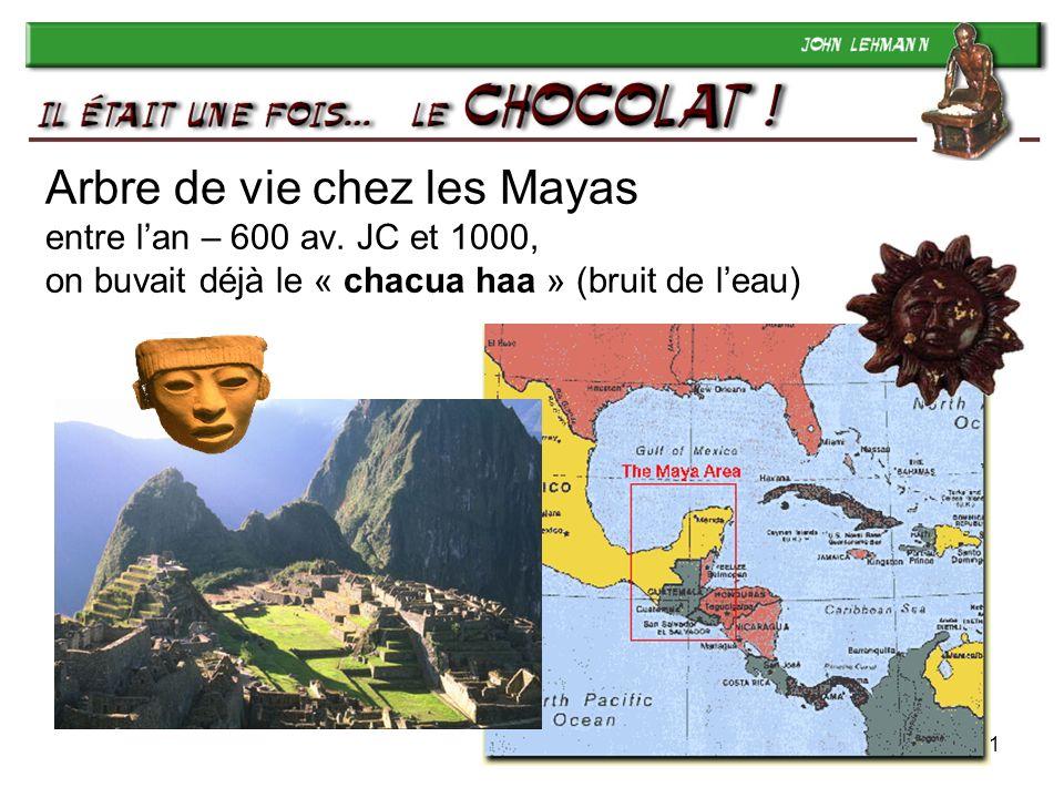 1 Arbre de vie chez les Mayas entre lan – 600 av. JC et 1000, on buvait déjà le « chacua haa » (bruit de leau)