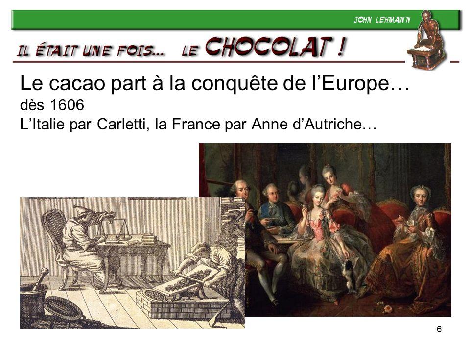 17 Jean Tobler (1830-1905) Il ouvre sa « Confiserie spéciale » en 1868 et vend de plus en plus… et finit par confectionner son chocolat lui-même, à Berne.