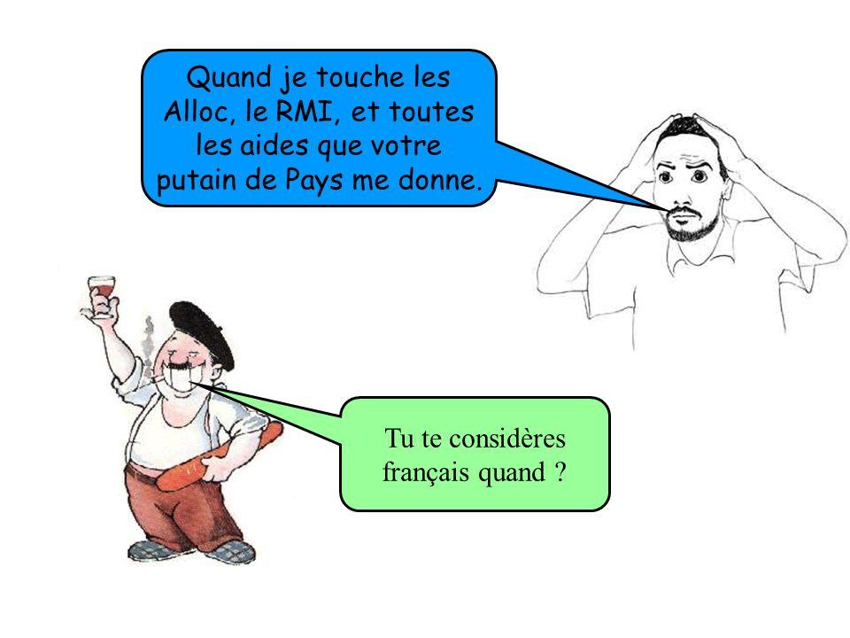 Pour faire voir aux Français qu on les enculent chez eux. Pourquoi dans les matchs de foot de l équipe de France vous sifflez la Marseillaise ?