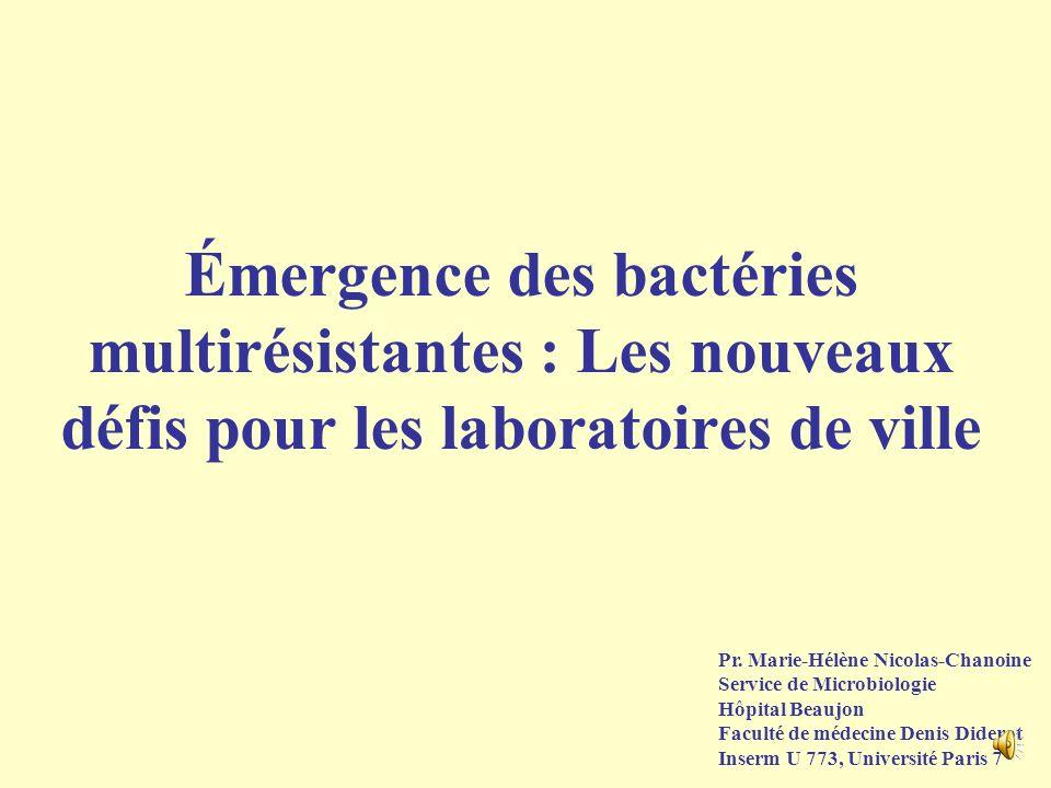 Émergence des bactéries multirésistantes : Les nouveaux défis pour les laboratoires de ville Pr.