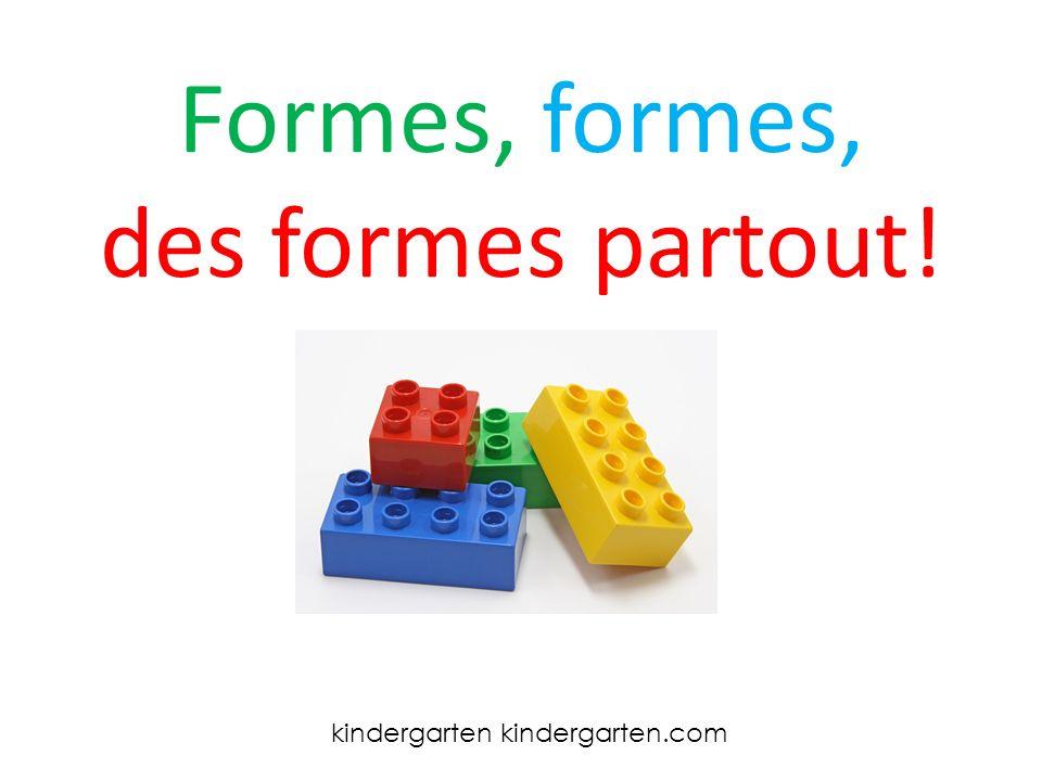 Formes, formes, des formes partout! kindergarten kindergarten.com