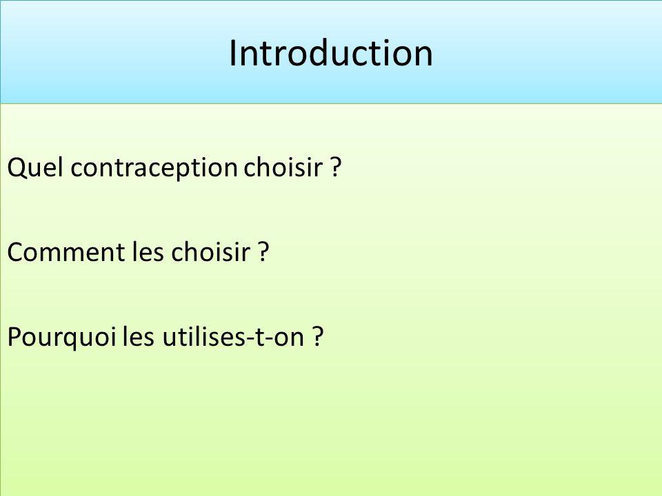 Quel contraception choisir ? Il existe plusieurs moyen de contraception exemple: