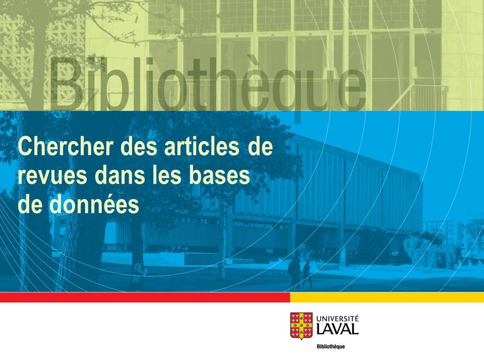 Chercher des articles de revues dans les bases de données