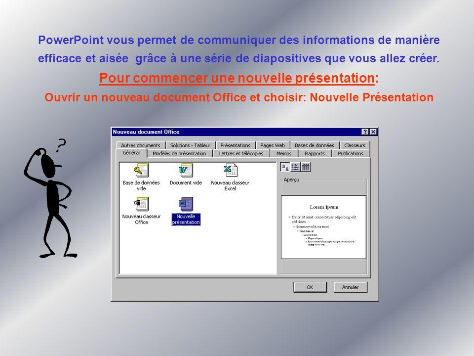 PowerPoint vous permet de communiquer des informations de manière efficace et aisée grâce à une série de diapositives que vous allez créer.
