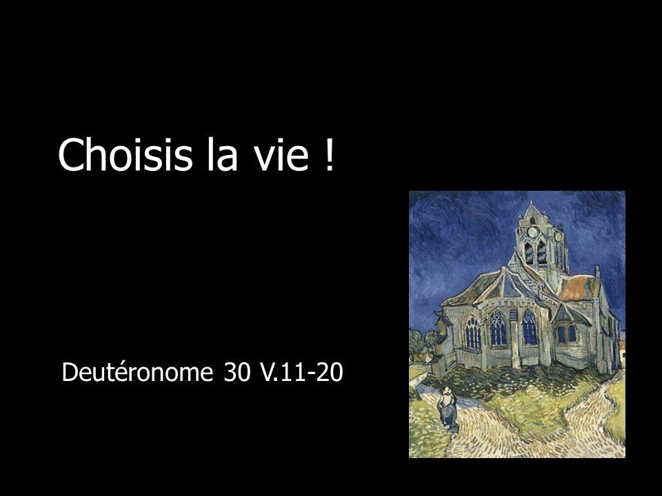 Choisis la vie ! Deutéronome 30 V.11-20
