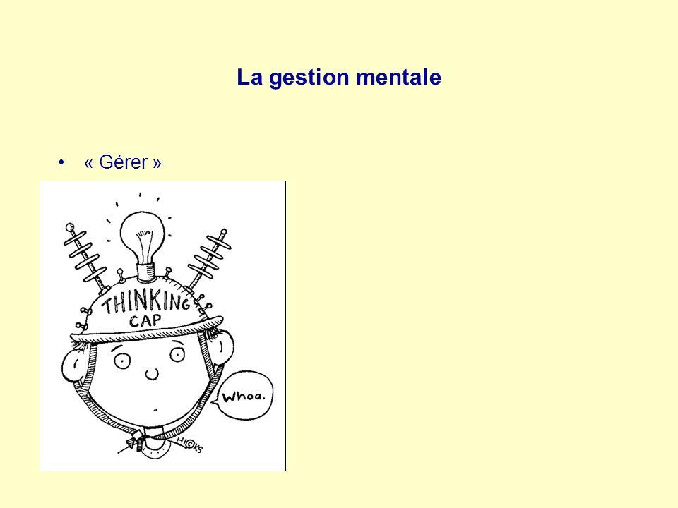 La gestion mentale « Gérer »