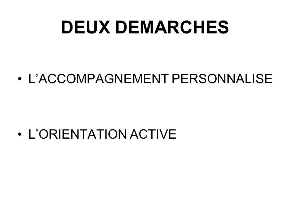 DEUX DEMARCHES LACCOMPAGNEMENT PERSONNALISE LORIENTATION ACTIVE