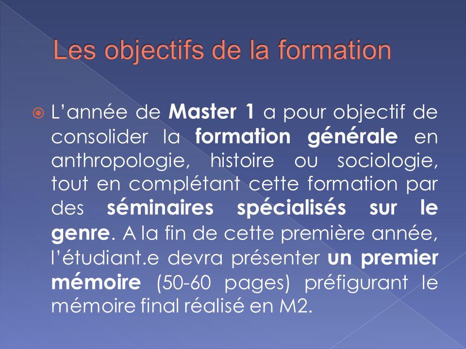En Master 2 létudiant.e poursuit son parcours de spécialisation et a pour objectif la réalisation du mémoire de recherche (80-120 pages) sous la direction du tuteur.