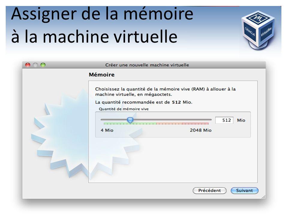 Assigner de la mémoire à la machine virtuelle