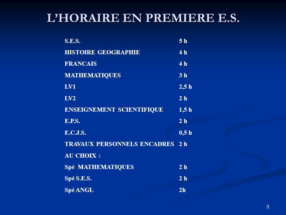 3 LHORAIRE EN PREMIERE E.S.