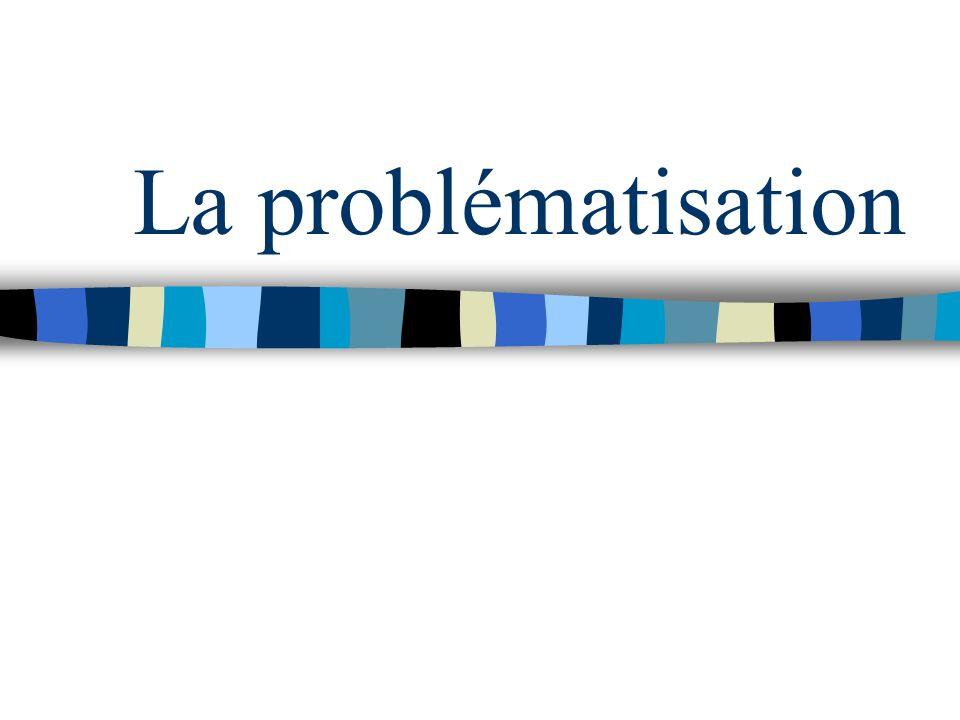Questionnement autour des situations dappel : problématisation