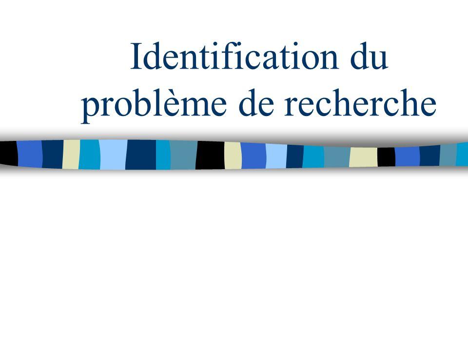 La problématisation comprend : Lidentification du ou des problème(s) La légitimation du problème identifié La généralisation du problème identifié