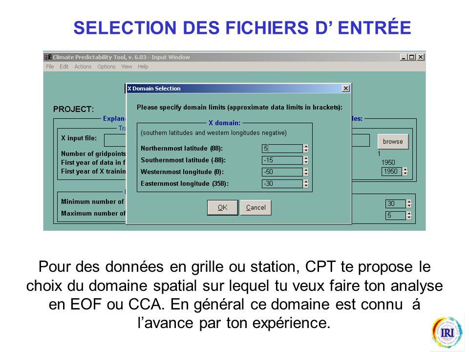 Pour des données en grille ou station, CPT te propose le choix du domaine spatial sur lequel tu veux faire ton analyse en EOF ou CCA.
