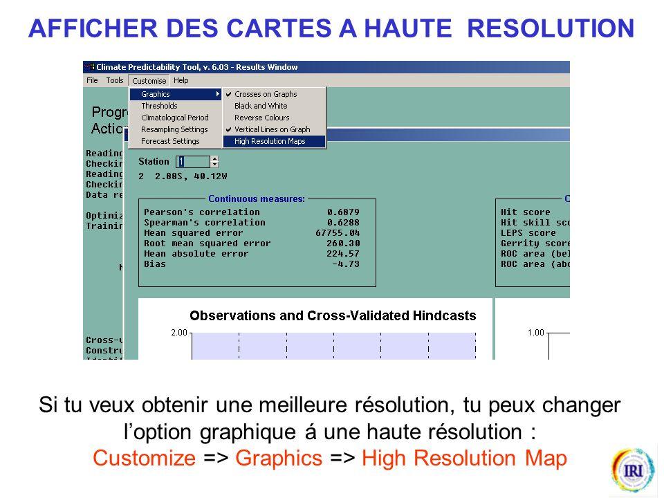 Si tu veux obtenir une meilleure résolution, tu peux changer loption graphique á une haute résolution : Customize => Graphics => High Resolution Map AFFICHER DES CARTES A HAUTE RESOLUTION