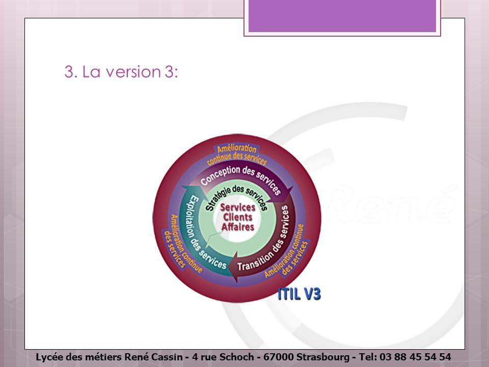 Lycée des métiers René Cassin - 4 rue Schoch - 67000 Strasbourg - Tel: 03 88 45 54 54 3. La version 3: