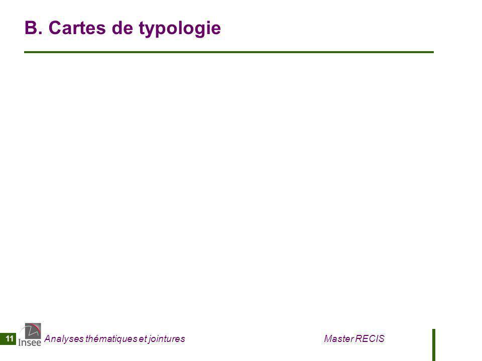 Analyses thématiques et jointures Master RECIS 11 B. Cartes de typologie