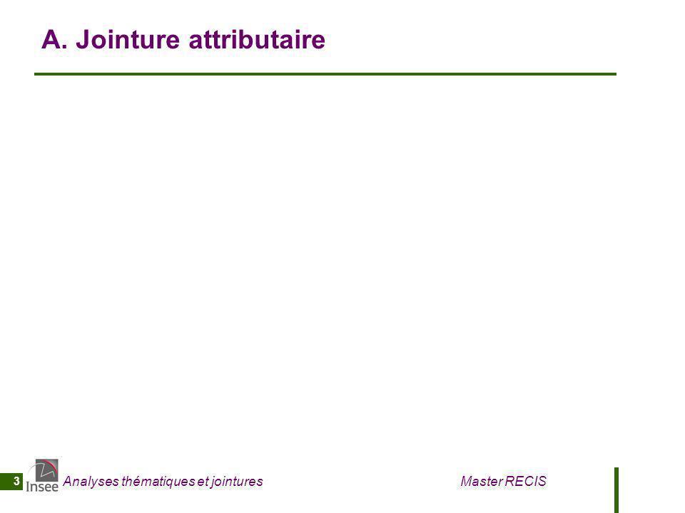 Analyses thématiques et jointures Master RECIS 4 A1.