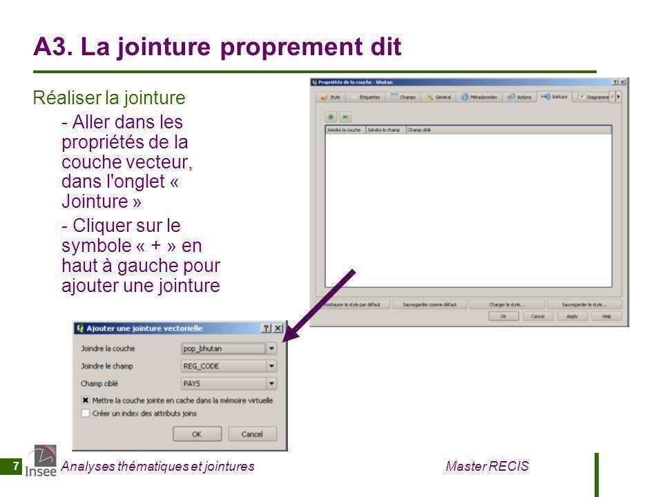 Analyses thématiques et jointures Master RECIS 8 A4.