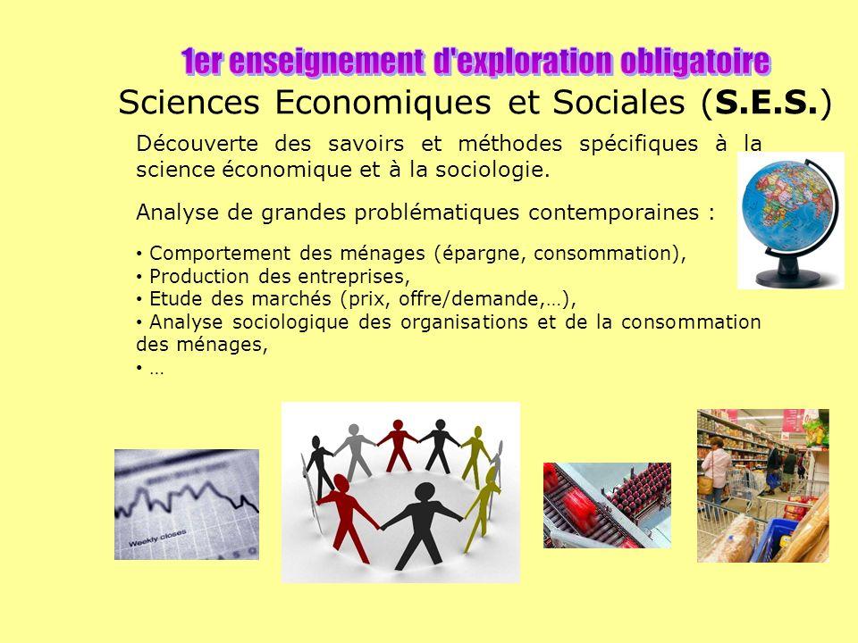 Découverte des savoirs et méthodes spécifiques à la science économique et à la sociologie.