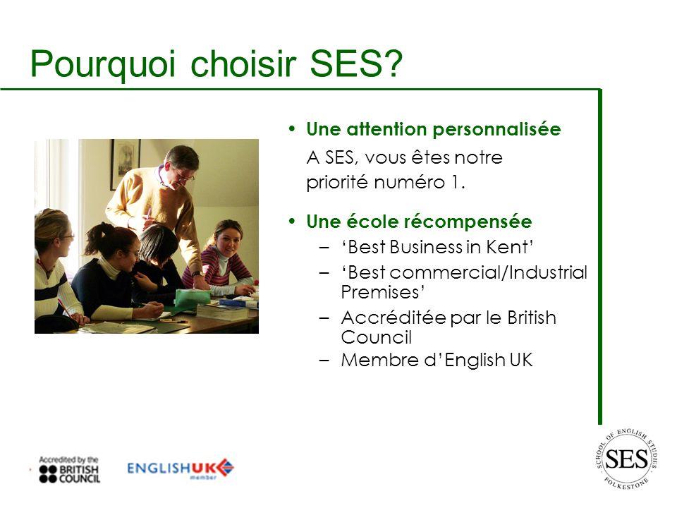 Pourquoi choisir SES. Une attention personnalisée A SES, vous êtes notre priorité numéro 1.