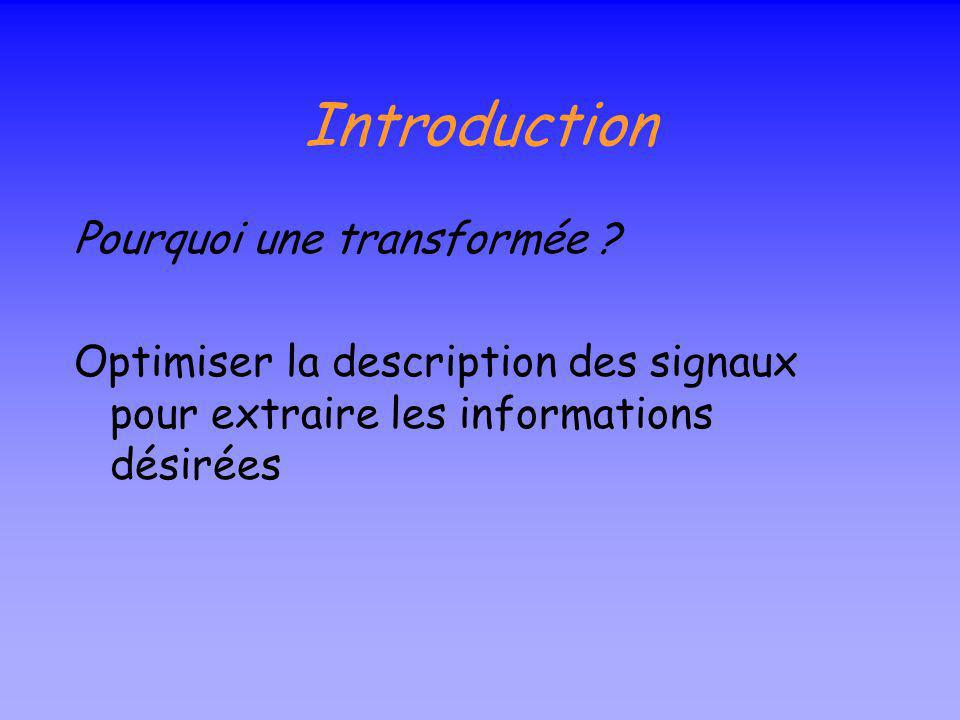 plan Introduction Au royaume de Fourier SFT CWT DWT Applications