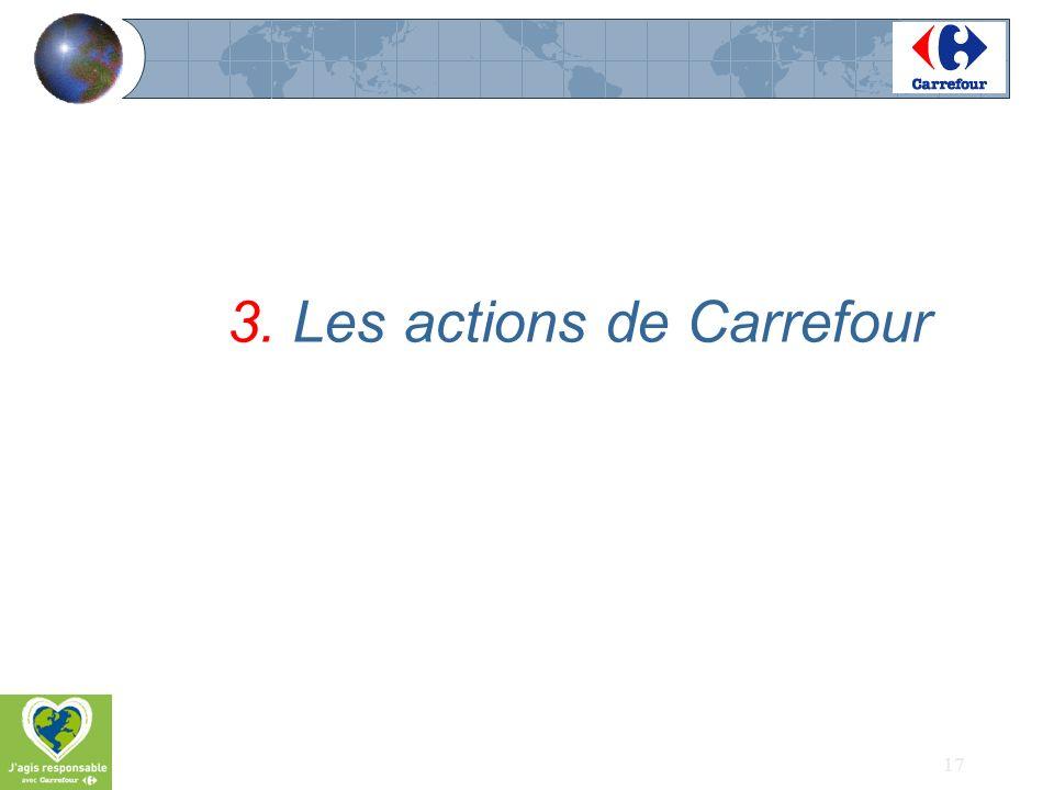 17 3. Les actions de Carrefour