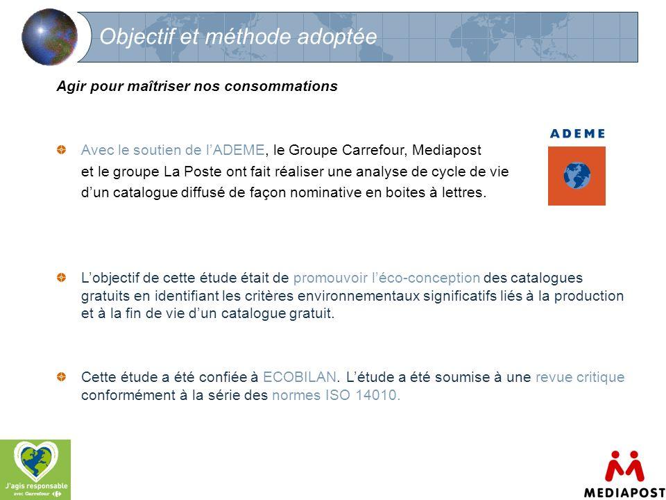 4 Objectif et méthode adoptée Agir pour maîtriser nos consommations Avec le soutien de lADEME, le Groupe Carrefour, Mediapost et le groupe La Poste on