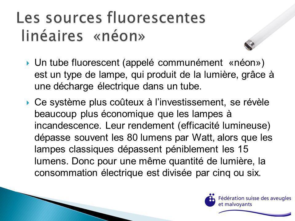 Un tube fluorescent (appelé communément «néon») est un type de lampe, qui produit de la lumière, grâce à une décharge électrique dans un tube. Ce syst